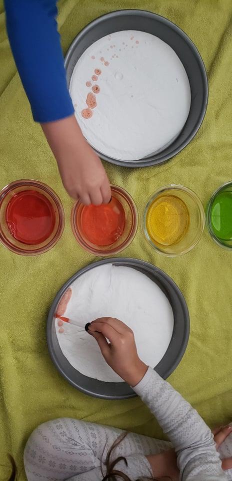 rainbow colored vinegar